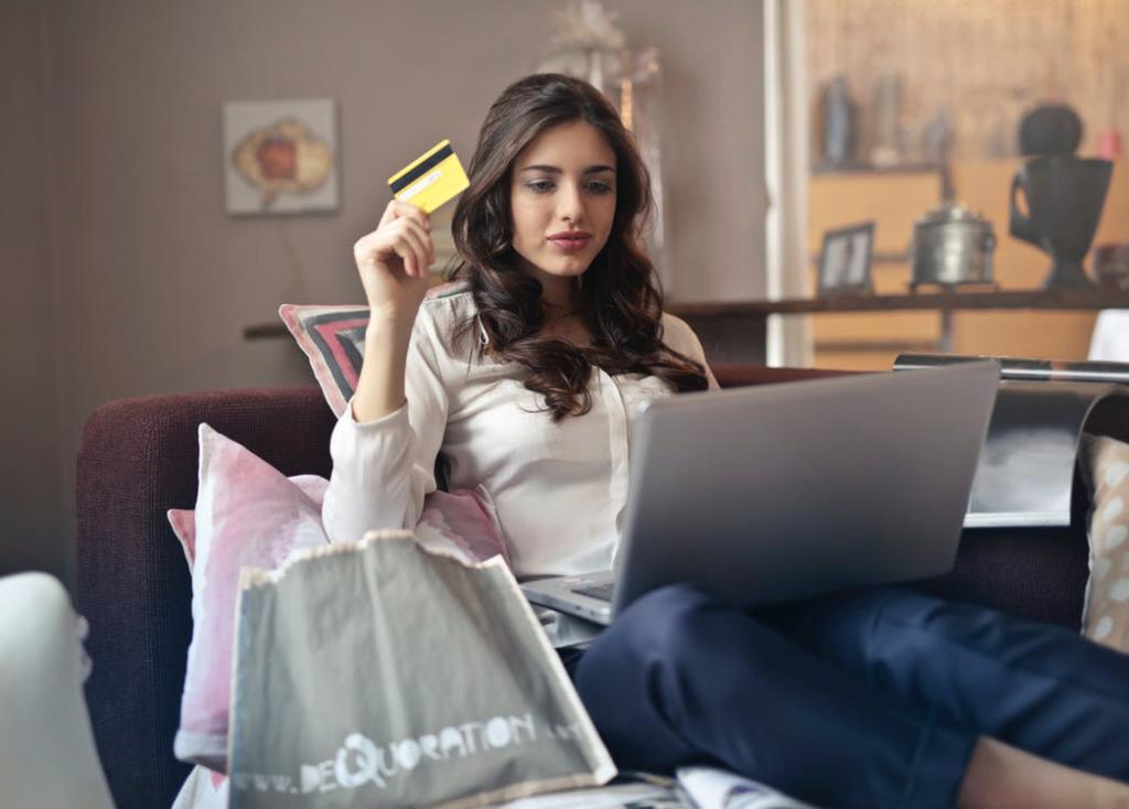 woman credit card