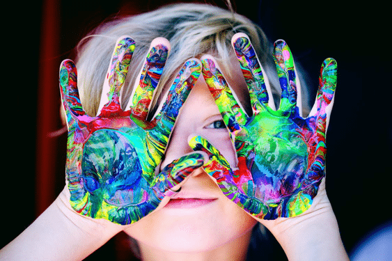 Child hand color